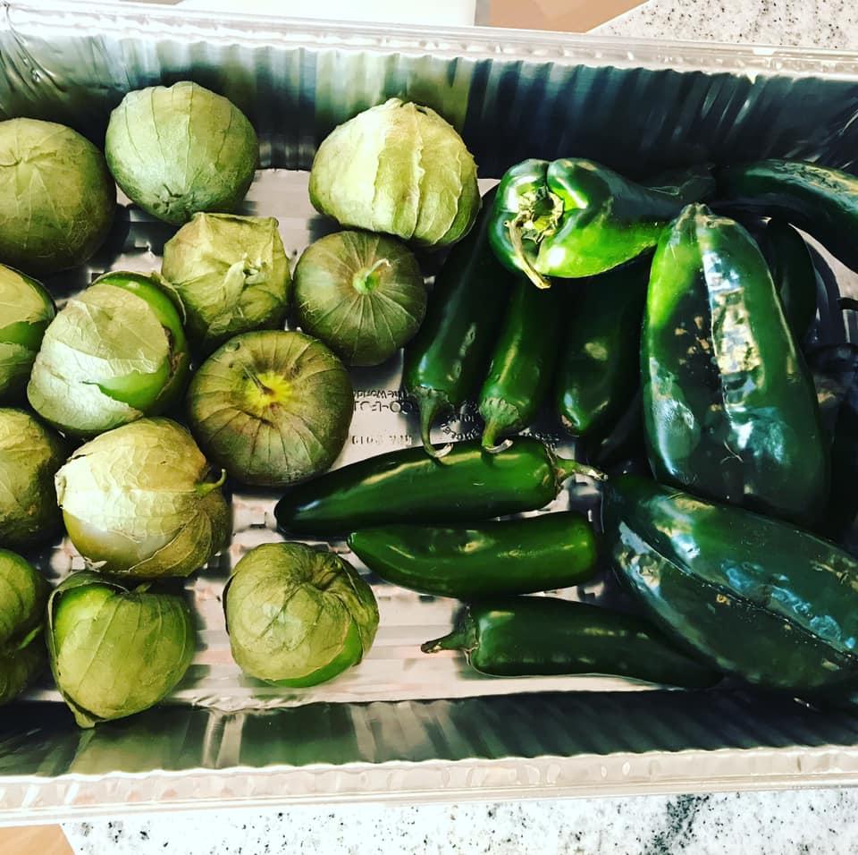 chile verde with pork vegetables