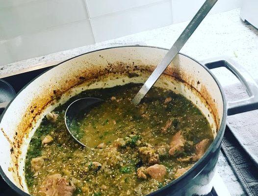 Chile Verde with Pork (Chili Verde Con Cerdo)