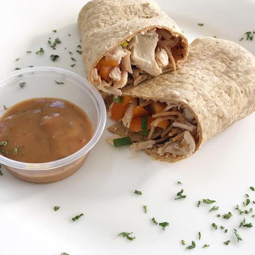 Thai Chicken Peanut Wrap
