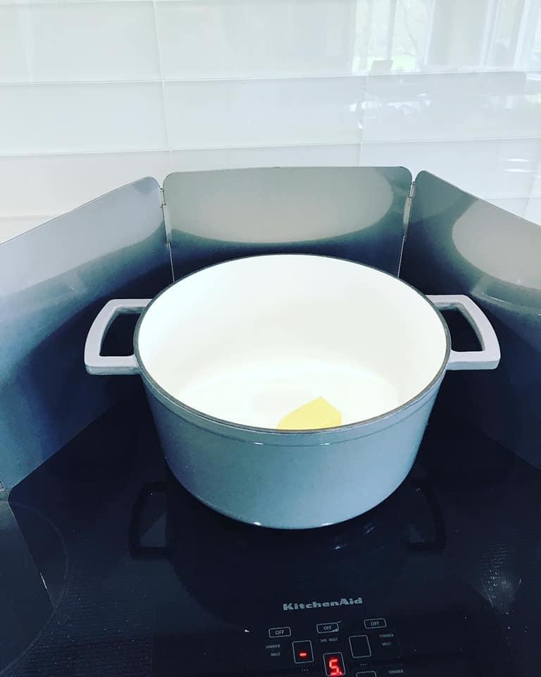 dutch oven melting butter