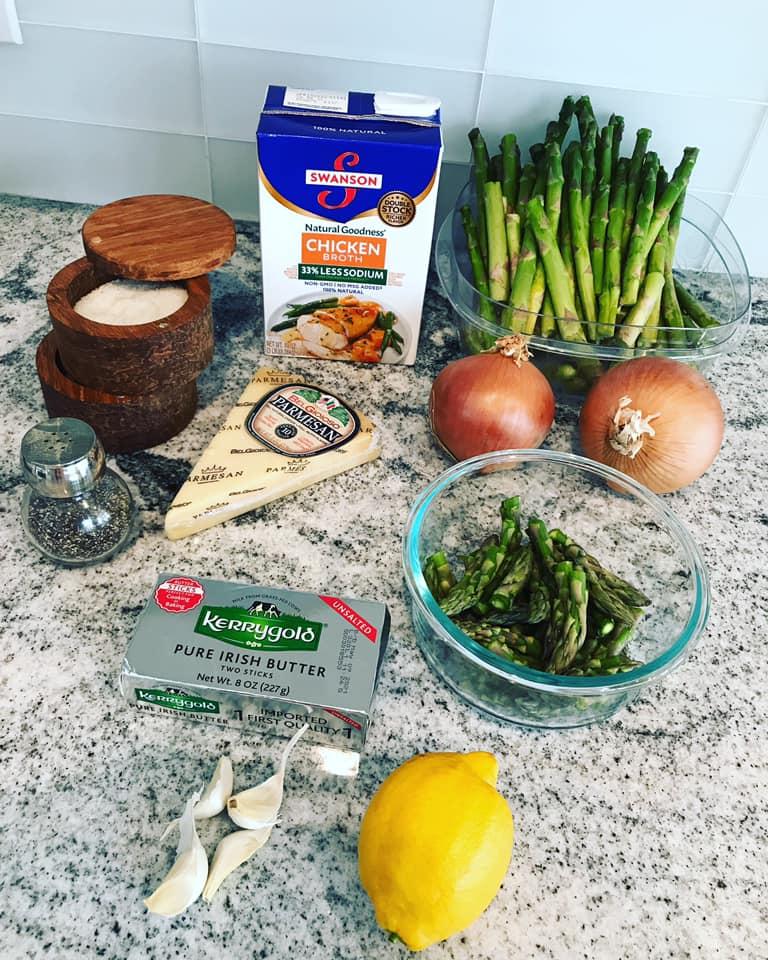 Ingredients for Asparagus Lemon Parmesan Soup