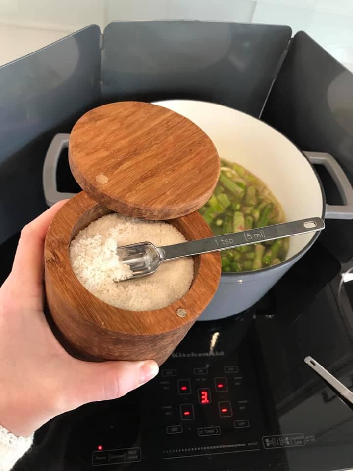 add salt to soup
