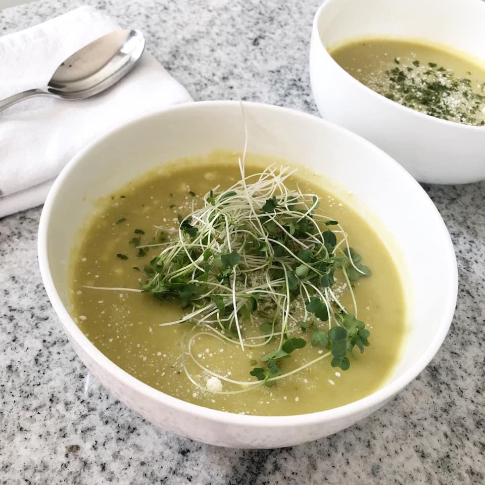 Easy and Delicious Asparagus Lemon Parmesan Soup