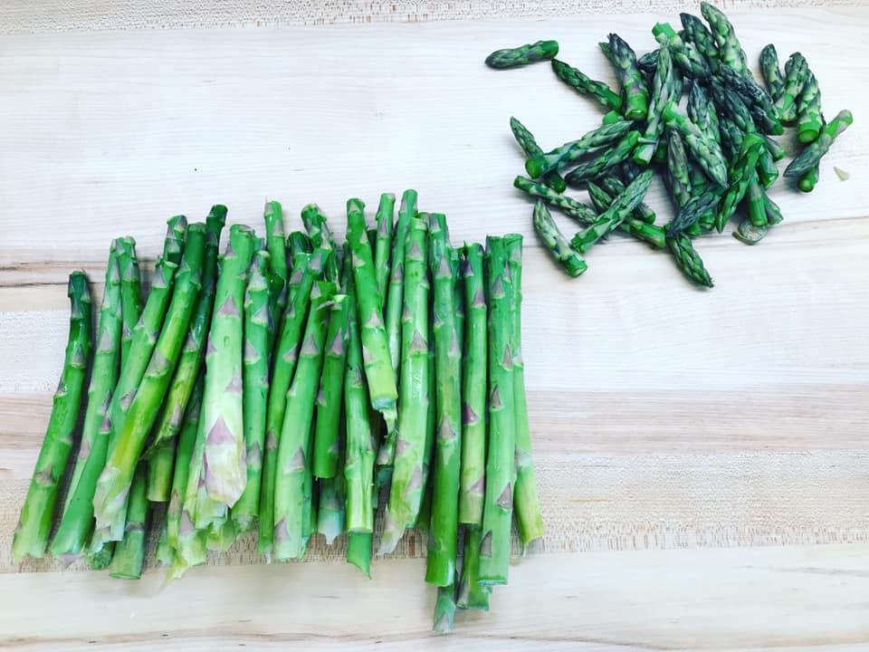 chopped asparagus photo