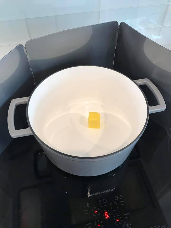 cooking instruction melting butter
