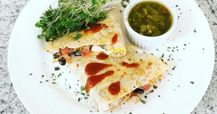 Nutrient Dense Southwest Chicken Microgreen Quesadilla