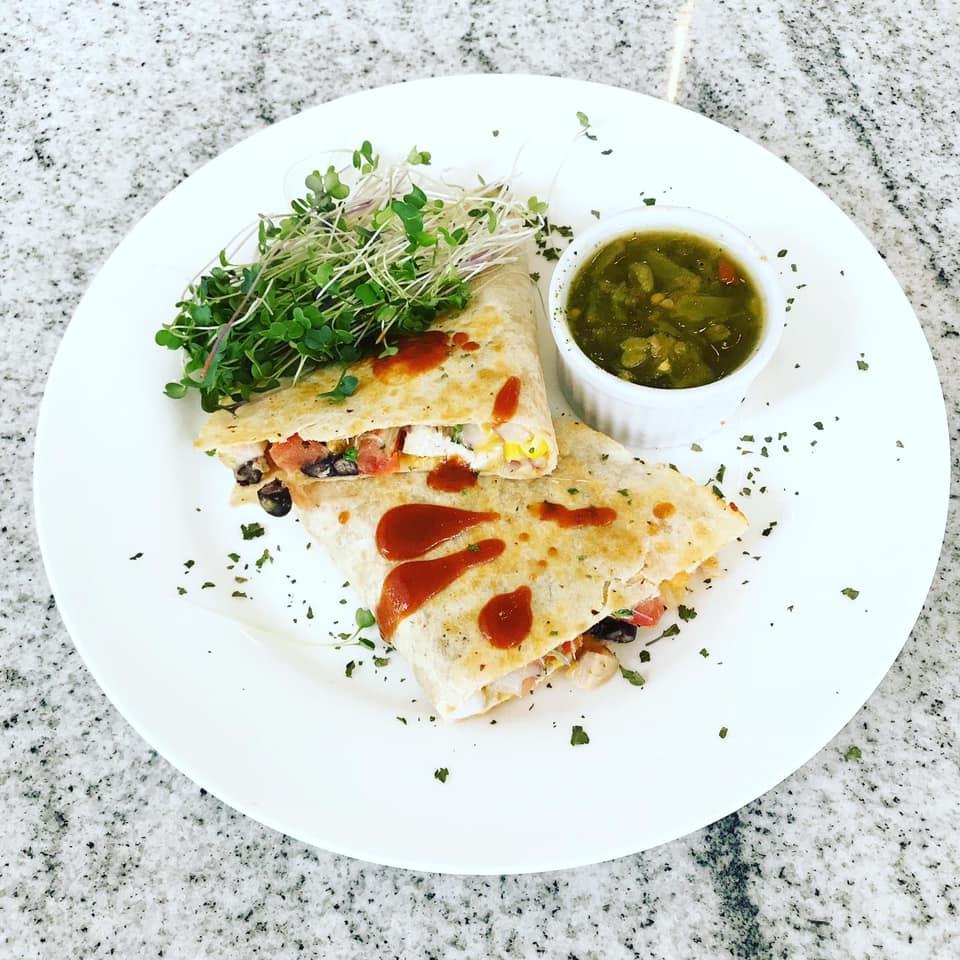 Southwest Chicken Microgreen Quesadilla