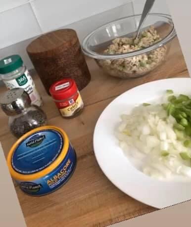 Ingredients for tuna salad