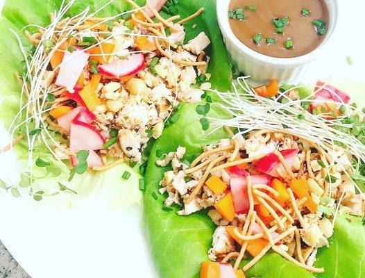 Easy Healthy Grilled Chicken Asian Lettuce Wraps