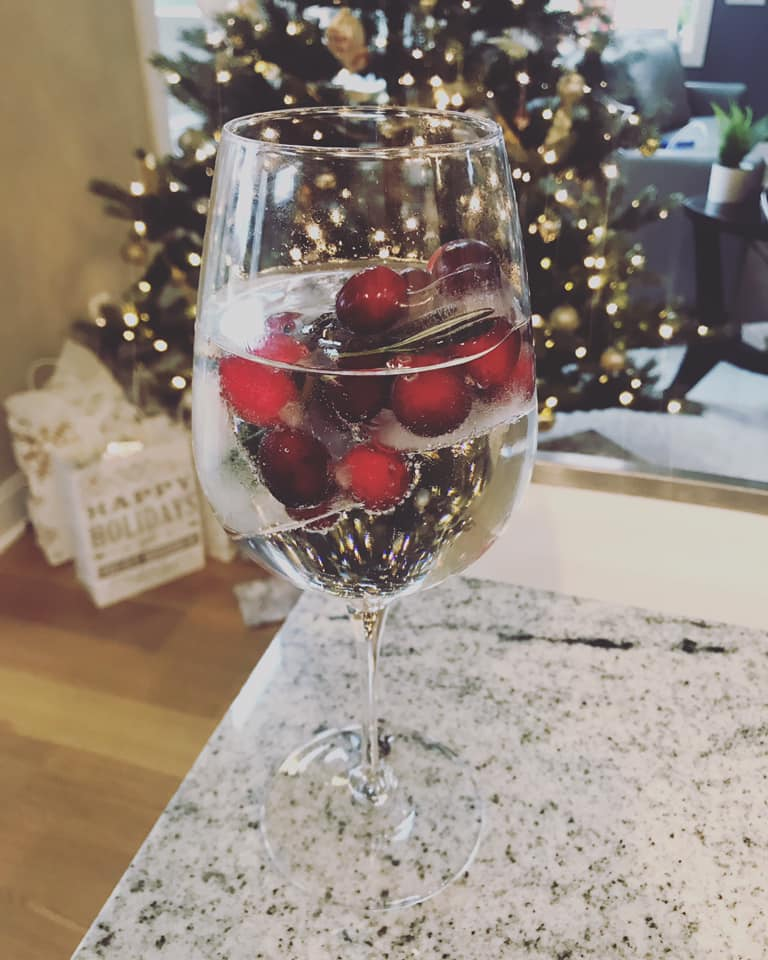 Cranberry Frozen Holiday Ice Cubes