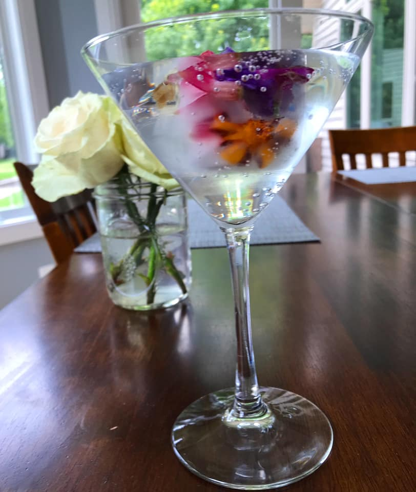 Edible Flower Martini